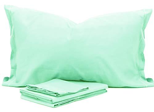 RP Juego de sábanas para Cuna Montessori de Color Liso para niña – 100% algodón Fabricado en Italia Verde