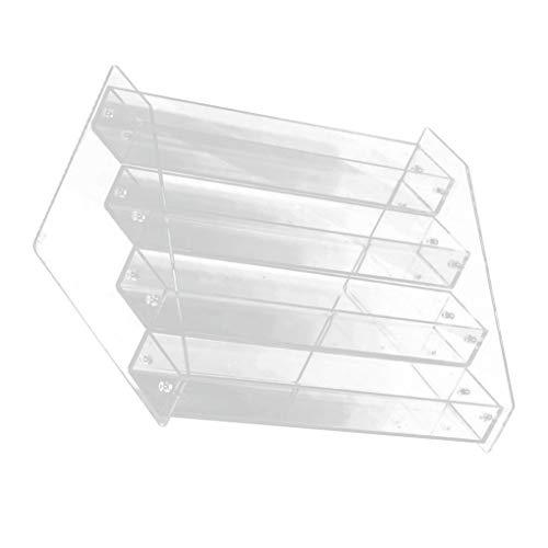 Meerlaagse acryl siliconen nagellak display plank, nagellak rek transparant display plank nail art salon benodigdheden
