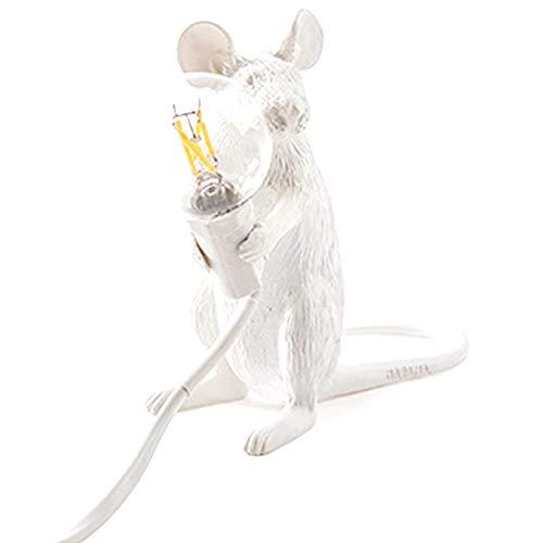 Lámpara De Mesa Resina Ratón Forma Escritorio Luz Moderna Nórdica Noche De Pie Lámpara Animal Decoración del Hogar Estilo 1