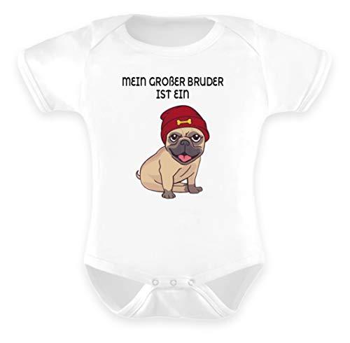 Galeriemode Body para bebé con diseño de carlino Blanco 12-18 Meses