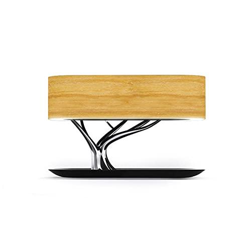 Bonsai'Árbol de la luz' - Lámpara de mesa elegante de la cabecera LED con altavoz Bluetooth incorporado y cargador inalámbrico para el dormitorio, la oficina, la sala de estar, la lámpara de mesa inf