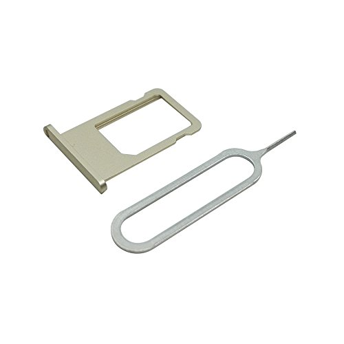 Cemobile Soporte de la Bandeja de Tarjeta SIM Reemplazo para iPhone 6 4,7 Pulgadas (Oro)
