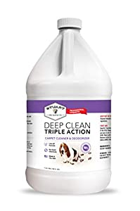 Stuart Pet Supply Co. Professional Strength Deep Clean (Gal.) 3X Carpet Cleaner Solution & Deodorizer, Concentrated Encapsulating Carpet Shampoo, Pet Stain,Odor & Dirty Carpet Cleaning Formula