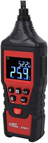 GXT Higrómetro de termómetro Digital, psicrómetro Digital Multifuncional Resistente al Desgaste, para el Cultivo de vinos de la Granja de Laboratorio. práctico