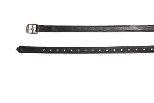 Döbert Farmer - Correas para estribos con forro de nailon (135 cm), color negro
