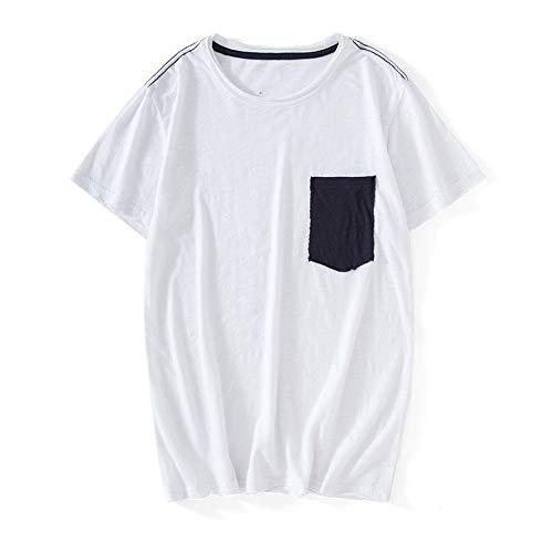Preisvergleich Produktbild NOBRAND Herren Frühling und Sommer Neu Kurzarm T-Shirt Herren Baumwolle T-Shirt Rundhals Gr. XL,  weiß