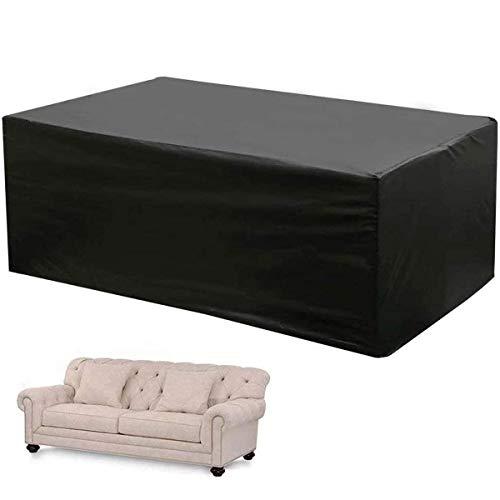 Inicio Accesorios Fundas para muebles de jardín Impermeables 250 & Times; 200 & Times; 80Cm Funda rectangular para mesa y silla Sofás y sillas Juego de muebles seccionales Fundas para patio exterio