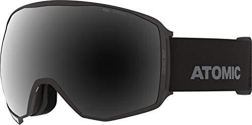 Atomic, All Mountain-Skibrille, Unisex, Für sonniges Wetter, Large Fit, Sphärische Scheibe, Count 360° Stereo, Schwarz/Schwarz Stereo, AN5106022