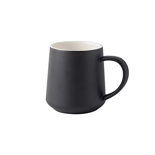 SKK Party Cup Coffee Mug Light Weight Water Cup Ceramic Mug for Milk Coffee Cereal Drinks 450ml/15oz Holiday (Color : Black1)