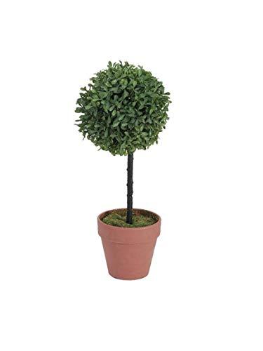 artplants.de Bola de boj Artificial en Tronco Alto, 40cm, Ø 16cm - árbol sintético - Planta Artificial