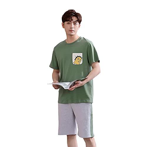 XFLOWR Camicia da Notte Loungewear Carino Cartone Animato Pigiama Set Estate Uomo Manica Corta Pigiameria Confortevole Morbido Pigiama Donne Camicia Da Notte XXXL TSM1852M