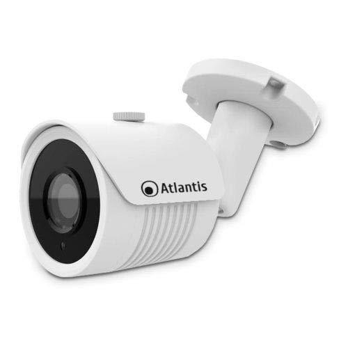 Videocamera Atlantis Ultraplex A11-UX826A-BP Ip Poe Bullet 3MP 1920x1080 H.264/h.265 20fps 1/2.9' Cmos Ir 2 Array Led 15mt