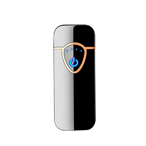 dfsa Touch Induktion Feuerzeug Aufladen USB zweiseitiger Punkt Rauchmelder Feuerzeug winddicht Gadgets für Männer