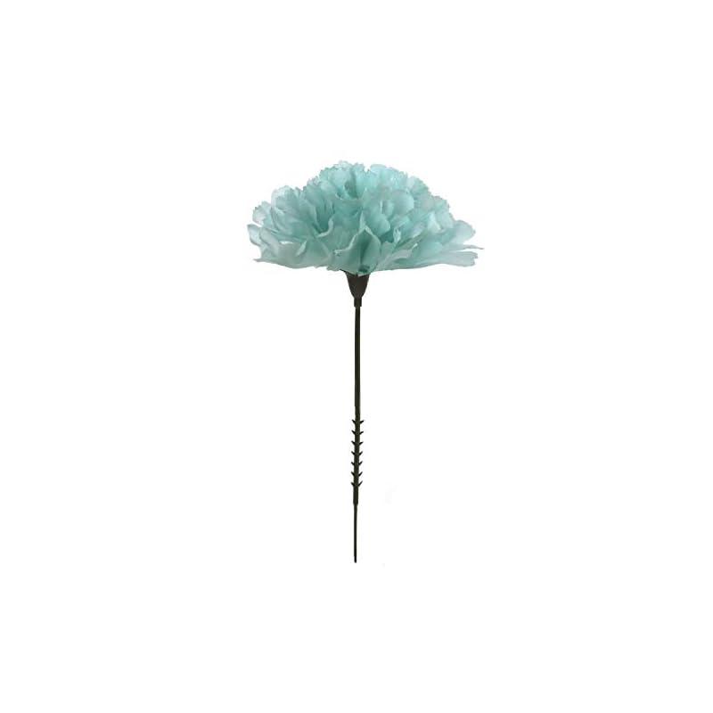 "silk flower arrangements larksilk blue silk carnation picks, artificial flowers for weddings, decorations, diy decor, 50 count bulk, 3.5"" carnation heads with 5"" stems"