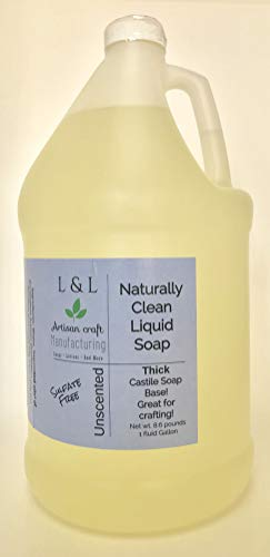 Liquid Castile Soap Unscented 1 Gallon Natural Vegan NON-GMO