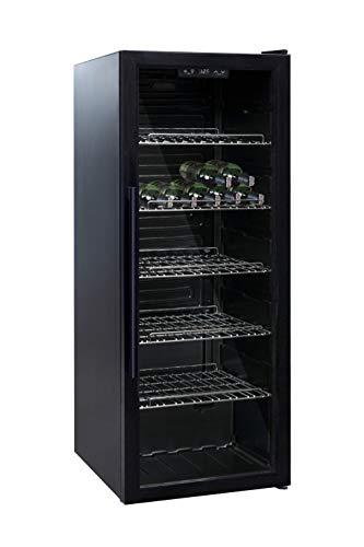 BRGWA86 - Frigorífico para vino (86 botellas, 60 l, 5 estantes, temperatura ajustable de 5 °C a 20 °C)