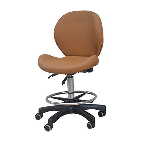 Dental Mobile Stuhl für Zahnärzte, PU Leder Zahnarzt Stuhl Dental Computer Stuhl Dental Hocker Höhe verstellbar