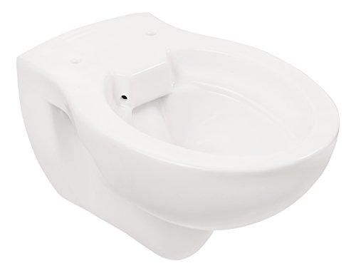 Wand-WC | Spülrandlos | Tiefspüler | Abgang waagerecht | Weiß | Toilette | Spülrandloses WC | Klo | Hänge-WC | Randlos - 3