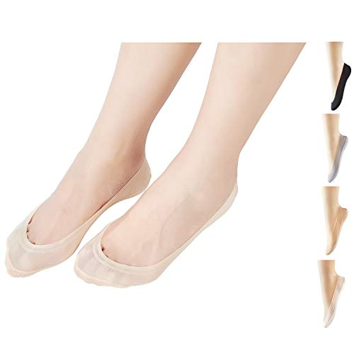 Ougenni Rutschfeste Socken mit unsichtbarem Nylonfutter für Mokassins, Bootsschuhe und Turnschuhe...