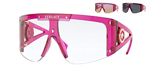 Versace Gafas de Sol MEDUSA ICON VE 4393 FUCHSIA/CLEAR LENS PINK SHADED LENS 46/14/120 mujer