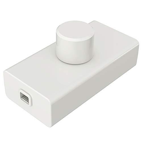 iolloi LED-Dimmer, Phasenabschnitts Schnurdimmer Drehdimmer für Dimmable LED and Halogen Bulbs, LED 1–50 W und Halogen 10–100 W, 3 Jahre Garantie (Weiß)
