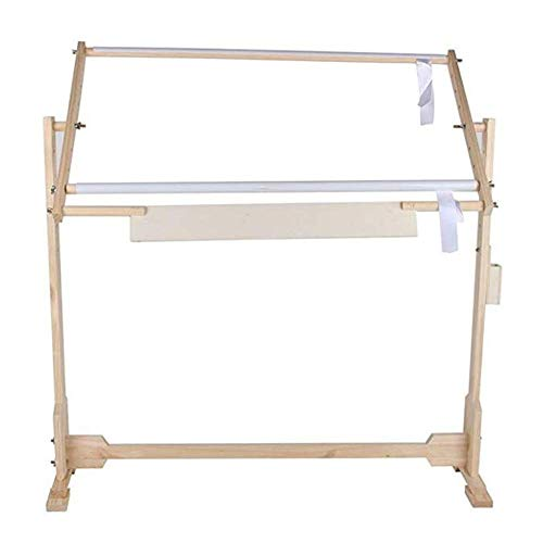 Wooden Frame Embroidery Stand Adjustable Cross Stitch Floor Stand 360° Rotation Embroidery Cross Stitch Needlework Lap Frame Tabletop Tapestry Stand Frame Embroidery Hoop Needlework Craft Tool