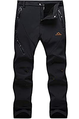 MAGCOMSEN Winter Pants Men Fleece Lined Pants Warm Pants Waterproof Pants Ski Pants Snow Pants Hiking Pants Tactical Pants