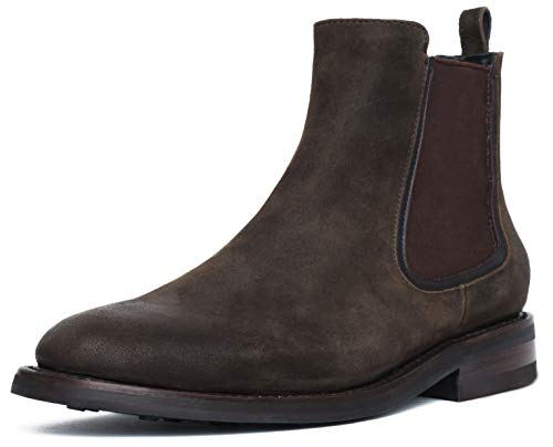 Thursday Boot Company Men's Duke Chelsea Leather Boot, Dark Olive Suede, 8