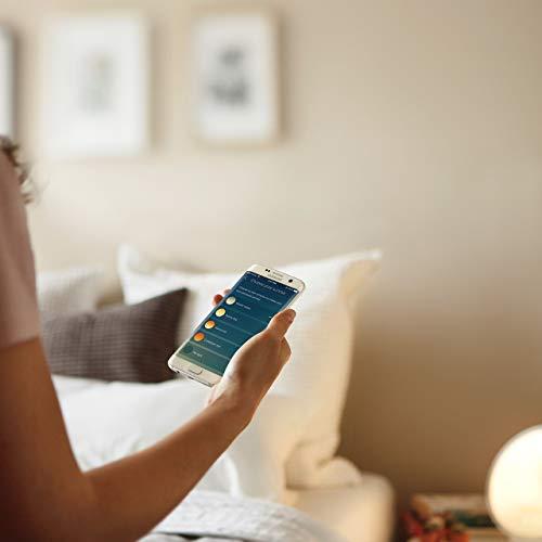 Philips Connected Sleep und Wake-up Light, Einschlafhilfe, Natürlich aufwachen, Umgebungssensor, App Connected, HF3671/01 - 3