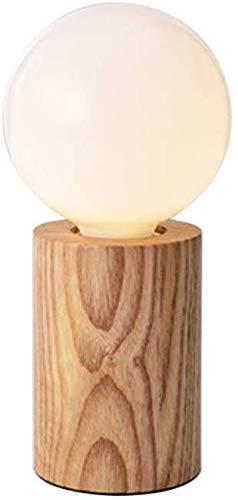 KMILE Lámpara de estudio Nordic Mini Table Dormitorio Lámpara de noche Simple Europea Lámpara de mesa Lámparas de escritorio/Luz de noche (Color : Natural)