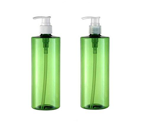 2PCS 500ml 1,7 oz vide bouteilles de presse en plastique rechargeables presse support de stockage de shampooing bain douche gel contenant articles de toilette flacon pots couleur de la pompe aléatoire