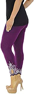 Women's Sport Yoga Pants Print Workout Mid Waist Pants Running Pants Fitness Elastic Leggings Lady Yoga Pants Compress 2019#ES : Purple, 5XL