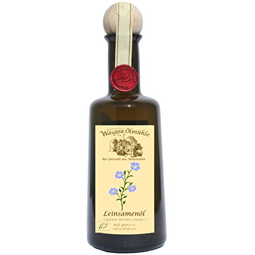 Wasgau Ölmühle - Bio Leinsamen Öl 'Braun'- 500 ml - kaltgepresst, naturbelassen, Größe:500 ml