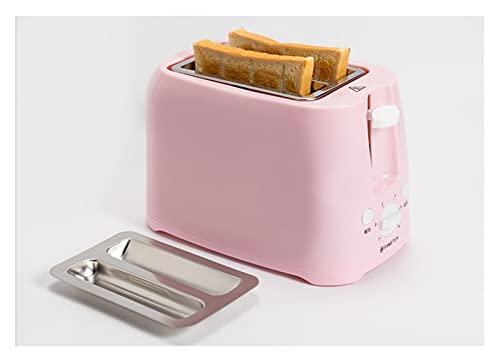 tostadora Tostadora automática de acero inoxidable Cocina de pan rápido Hogar fabricante de desayuno (Color : Yellow)