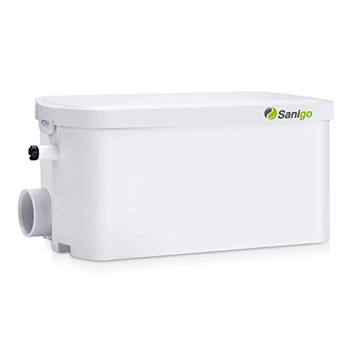 Sanigo SANI-S250C Hebeanlage Sehr Leise Pumpe Abwasser Haushaltspumpe Duschpumpe mit 2 Einlässen 200W