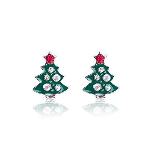 YMYM Kerstman Kerstmis sneeuwvlok Kerst Oorbellen Kerstboom Oorbellen 5 paren, Sd-13 groene boor boom