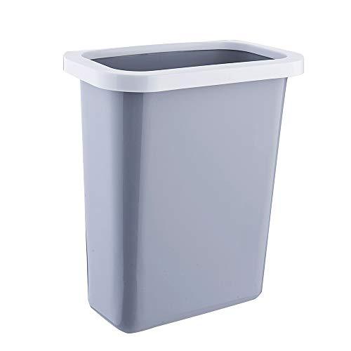 PERSUN 壁掛けゴミ箱 キッチンゴミ箱 蓋なし ゴミ袋ホルダー付き ぶら下げゴミ箱 大容量 丈夫 シンプル キッチン ベッドルーム 浴室