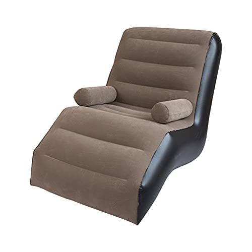Amusingtao Inflatable Chaise Lounger,Sofa Lounger Bed Lazy Floor Chair With Armrests for Indoor Living Room Bedroom, Outdoor Travel Camping