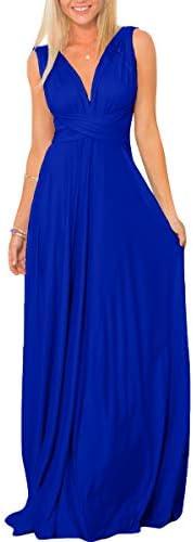 Womens Transformer Convertible Multi Way Wrap Long Prom Maxi Dress V Neck Hight Low Wedding product image