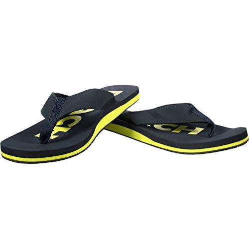 Ultrapower Flip-On Zehentrenner | Flip Flops | Badelatschen | Strandschuhe | Duschlatschen | Zehenstegpantolette | Freizeit | Bad | Sauna Schuhe | Sandalen | ZT1, | :D.Blau/Gelb, Größe:45 / UK 10.5