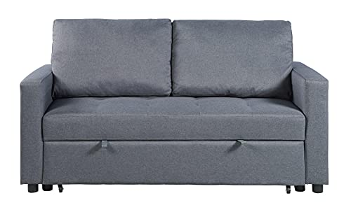 Visco Therapy Stylish and Comfortable 2 Seater Sofa Bed (Grey)