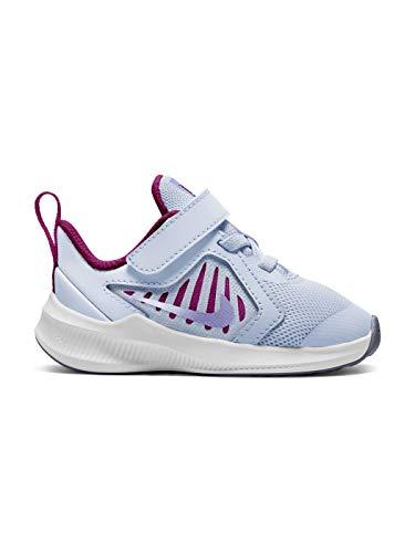 Nike Downshifter 10 (TDV), Running Shoe Unisex niños, Football Grey/Purple Pulse-Thunder Blue-White, 27 EU