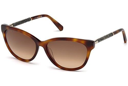 Swarovski SK-0131-53F Gafas de sol, Marrón, 57 para Mujer