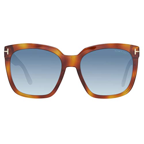 Tom Ford FT0502 5553W Tom Ford Sonnenbrille FT0502 53W 55 Schmetterling Sonnenbrille 55, Braun