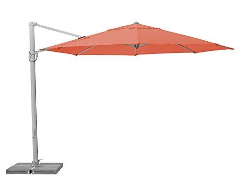 Suncomfort by Glatz Sunflex, paprika, 350 cm rund, Gestell Aluminium, Bespannung Polyester, 28 kg