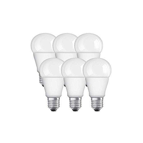 Osram A+ LED-Leuchtmittel Plastik 9 W E27, 6 Stück, Weiß 955493