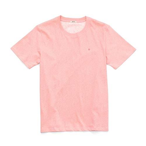 LESHARED Sommer New Heat Reactive Farbwechsel T-Shirt Männer Smarter Farbwechsel Sport T-Shirt Baumwolle Wärmeempfindliche Tops XL Orange Pink
