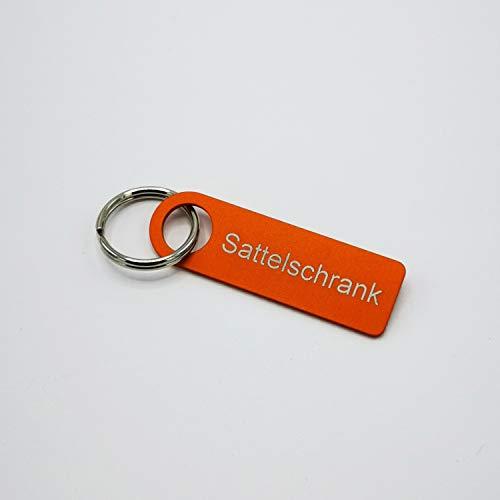 """LaserFIX24 Schlüsselanhänger mit Laserbeschriftung """"Sattelschrank"""", Aluminium in Orange harteloxiert – 100{08acaed2f801f1a93e273dd3bfac1324179b97f84c02cc2445a854976b1dde60} Made in Germany"""