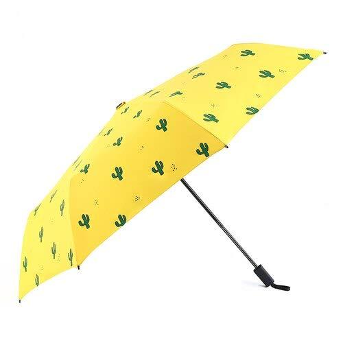 Sonnenschutz, wasserdicht, sonnig, regnerisch, niedlich, stilvoll, Kaktus, Liebe, Herz, Flugzeug-Muster, Outdoor-Regenschirm für den Haushalt, Alltagsbedarf, manuell-gelb (Weiß) - DADONG-3WM4SN