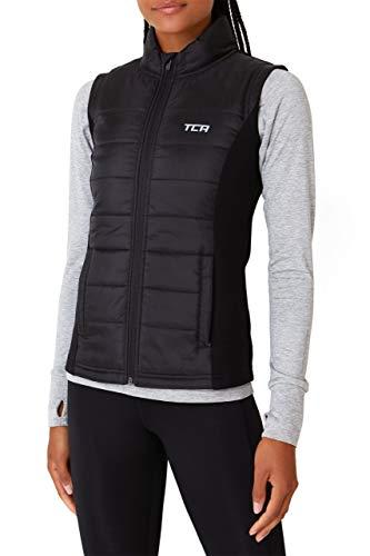 TCA Excel Runner Damen Thermo-Laufweste mit Reißverschlusstaschen - Black Stone (Schwarz), L